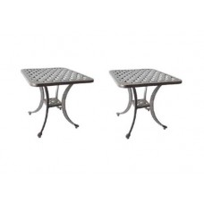 Patio End Table Outdoor furniture 2 Side Tables Nassau Cast Aluminum Bronze