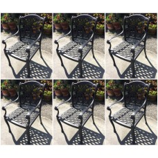 Patio chairs set of 6 outdoor Aluminum Flamingo Furniture Bronze