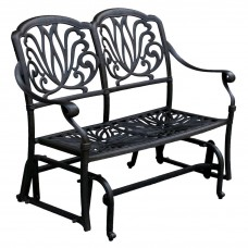 Outdoor Glider Porch Patio Elisabeth Cast Aluminum Furniture Desert Bronz