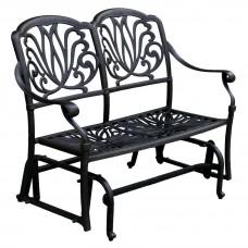 Outdoor Glider Porch Patio Elisabeth Cast Aluminum Furniture Darlee Desert Bronz