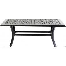 Patio Coffee Table Outdoor Furniture Cast Aluminum Desert Bronze
