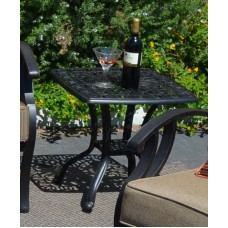 Patio end table outdoor furniture Cast Aluminum Elisabeth Desert Bronze