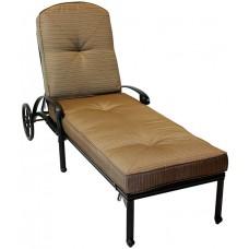 Chaise Lounge Outdoor Elisabeth Cast Aluminum All Weather furniture Bronze