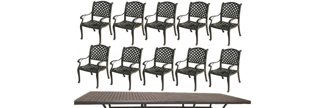 Patio dining set of 9 Cast Aluminum furniture