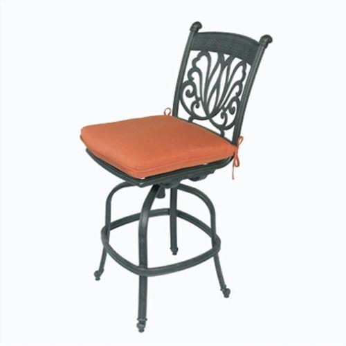 outdoor bar stool armless patio barstool cast aluminum sunbrella cushions