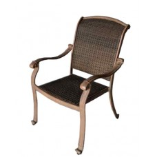 Patio chair Santa Clara outdoor Cast aluminum furniture Wicker mocha - bronze