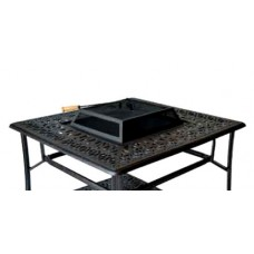 Patio Coffee Table Outdoor Fire Pit Elisabeth Cast Aluminum Furniture Bronze