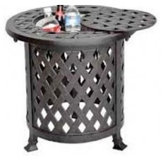 Patio outdoor End Table Multi Nassau Cast Aluminum Bronze